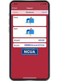 mobile deposit image capture frong side